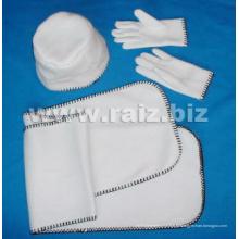 Plain 3 Set para o inverno (chapéu + luvas + lenço)