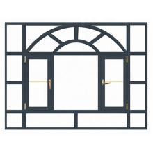 Wanjia Aluminiumfenster und heißer Verkauf der Türen in Dubai-Markt