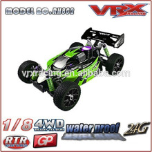 1/8th scale 4wd nitro powered rtr buggy,new body shll rc nitro car,durable rc car