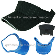 Visera de verano suave deportiva de verano de deporte de malla de poliéster de moda (TMV9488)