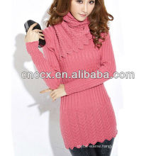 12STC0528 crew neck fancy sweaters women
