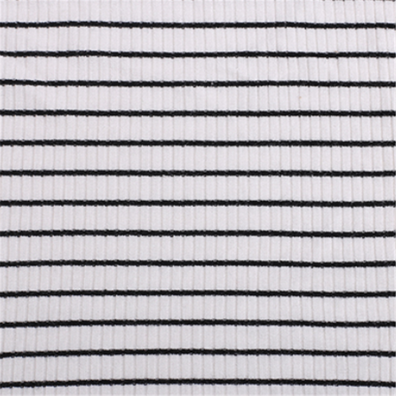 New Zebra Striped Rib Knitted Ployester Spandex Fabrics