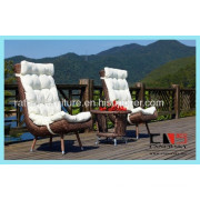 Fashion Design Pe Wicker Durable Alu Frame Outdoor Dining Set