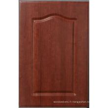Porte d'armoire (HLPVC-24) de la cuisine de PVC/porte de placard en bois