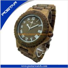Relógios de madeira da faixa de relógio dos relógios de alta qualidade com logotipo feito sob encomenda