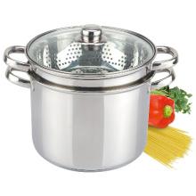 Juego de ollas al vapor de cocina de pasta de acero inoxidable