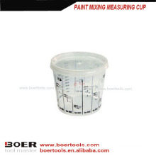 plastic paint mixing measuring cup