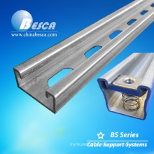 Cable tray hanger strut channel slotted unistrut channel