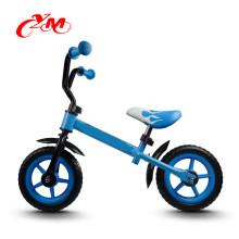 High quality no pedal Blue kids bike balance bike/light weight mini bike for children/CE 12 inch bike for toddler