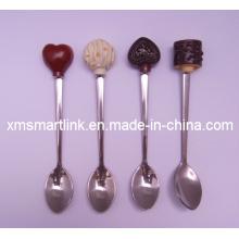 Polyresin-Schokoladen-Dekor-Andenken-Tee-Löffel-Geschenke