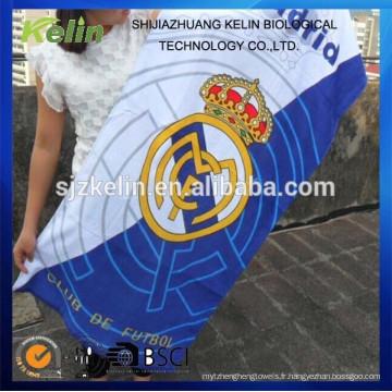 imprimé réactif coton promotionnel club de football serviette de plage