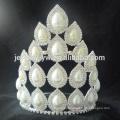 Grande venda princesa branco rhinestone casamento pageant coroa e tiaras