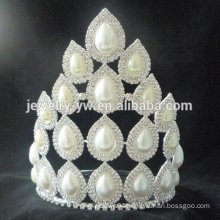 Big selling princess white rhinestone wedding pageant crowns and tiaras