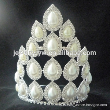 Big selling princess white rhinestone wedding pageant crowns and tiaras