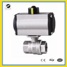 CWX-Serie Zweiteiliger pneumatischer Kugelhahn mit Antrieb
