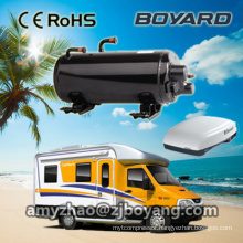 motorhome camping car air conditioner with boyard horizontal ac compressor
