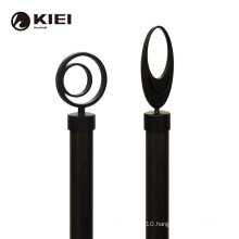 Contracted design black iron pipe flexible sliding hall polished luxury side brass half circle adjustable curtain rod holder