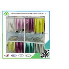 Eficacia media F5 F6 F7 F8 F9 fibra sintética no tejida de bolsillo / bolsa filtro de aire medios / filtro de aire del sistema de ventilación