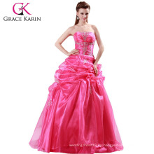 2015 Vestidos de boda largos elegantes rojos de Rose CL4482