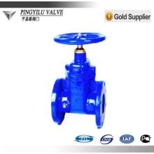 DIN standard PN10 soft sealing z45x-10 ductile iron gate valve