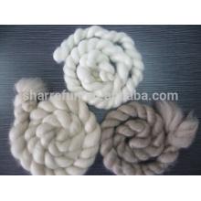 Tops de cashmere blanco / gris claro / marrón con SGS