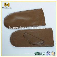 High quality lamb skin mittens women winter warmth leather gloves