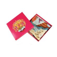 Caja de cartón plegable de papel personalizado para bufanda, maquillaje, regalo, cinturón