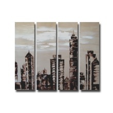 Best Selling Canvas Building Oil Painting for Home