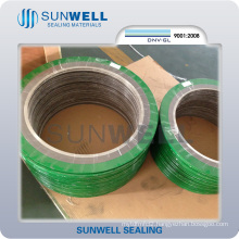 Graphite Spiral Wound Gasket with Outer and Inner Ring