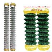 Malha de arame revestida galvanizada quente do diamante do PVC da rede de arame do diamante