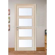 Puerta interior de madera de roble que hace pivotar con vidrio esmerilado