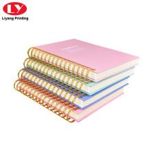 Individuell bedruckter Doppelspiral-Notebookkarton