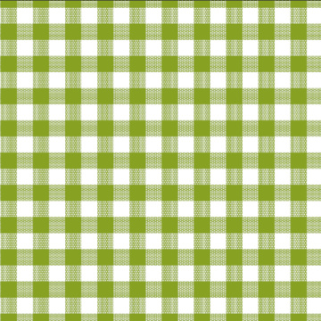 Printed check Tablecloth With Non Woven Backing