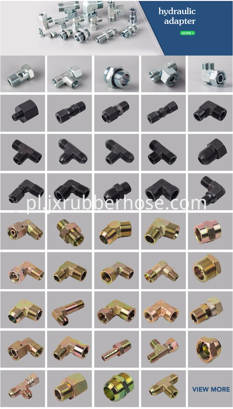 Hydraulic fitting and adpater
