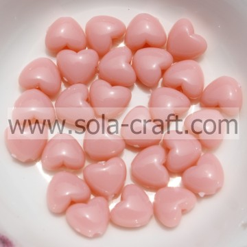 5*7.5*8.5MM Opaque Mixed Colors Necklace Heart Charm Beads Pattern
