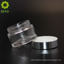 Glass round jar white lid empty glass jars for face cream 50ml for liquid