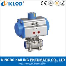 China made pneumatic actuator ball valve for high temperature fluid