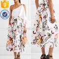 Pleated Printed Cotton-poplin Midi Skirt Manufacture Wholesale Fashion Women Apparel (TA3030S)