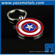 Werbe-benutzerdefinierte Metall Münze Schlüsselanhänger