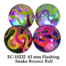 Lustige 65mm blinkende Schlange Wasser Boucing Ball Spielzeug