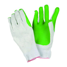 10g malha sem costura T / C Liner Latex Coated Glove