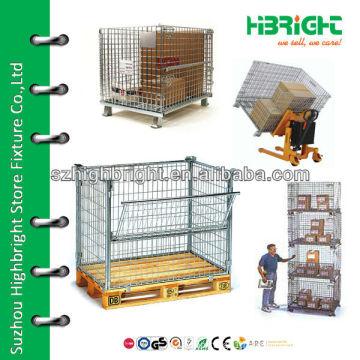 steel pallet mesh storage container
