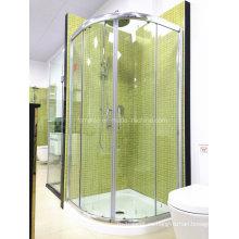 AS / NZS2208 Austalian paseo estándar de vidrio templado en la sala de ducha simple con bandeja (H002)