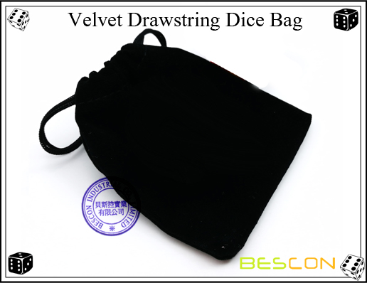 Velvet Drawstring Dice Bag