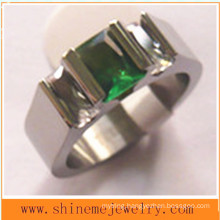 Fashion Wire Cut Stainless Steel Titanium Ring (TR1830)