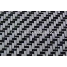 Fibra de carbono com pano de fibra de vidro