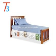 Bed skirt organizer clear PVC bedside storage organizer