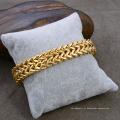 """Ouro 18k 8,5 """"bracelete dobro de aço inoxidável da forma dos homens da corrente de Franco"""
