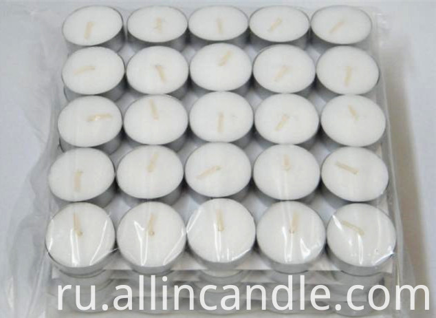 pouring decorative tealight scented candle