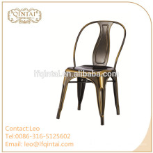 chaises en métal bon marché en gros d'usine pour diner des meubles de restaurant